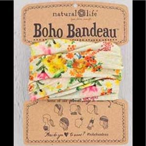 Natural Life Boho Headband Bandeau Yellow & Cream